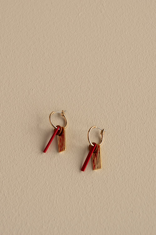 Earrings | shades of sunset | sunset orange + poppy red