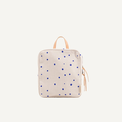 Kodomo backpack mini • ink blue dots