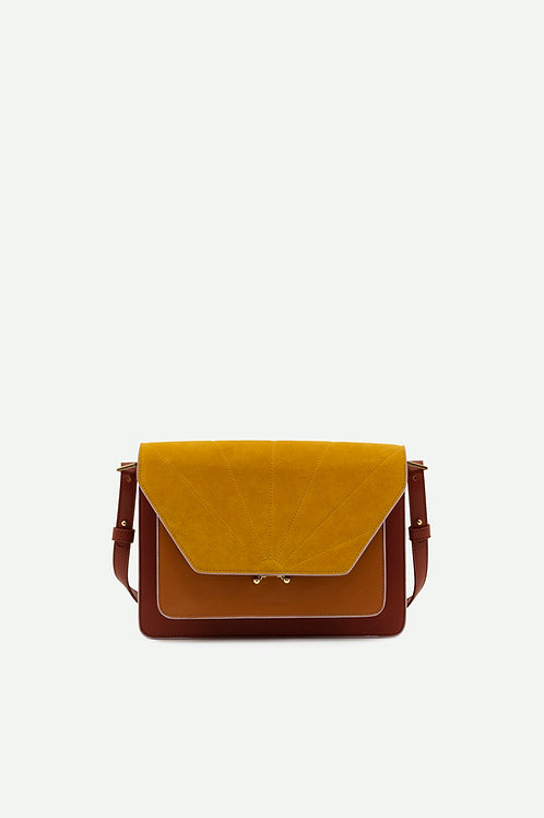 satchel | coloré | brick red + sunset orange + honey gold