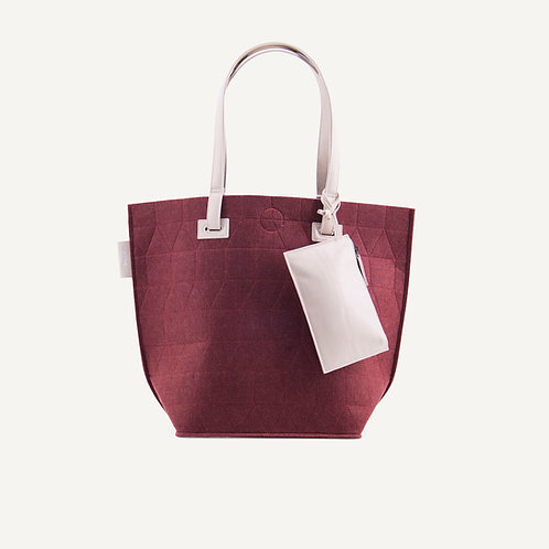 Felt big shopper • red