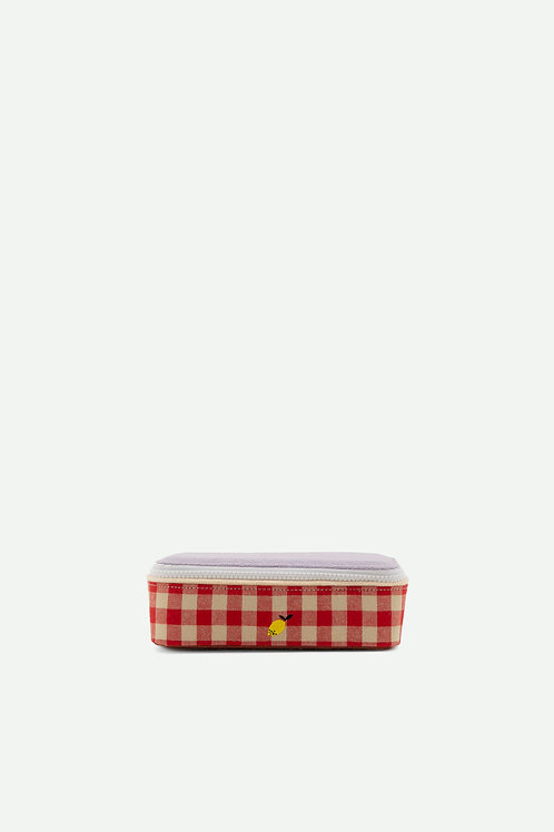 pencil box | gingham | special edition | poppy