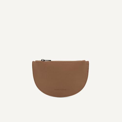Mondo half moon wallet • vegan leather • cacao