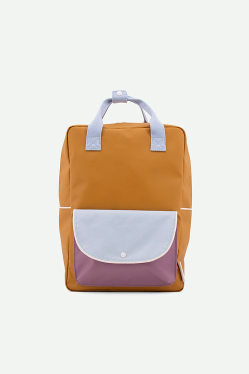 large backpack wanderer | caramel fudge + sky blue + pirate purple