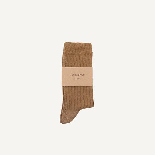 Socks • oat + golden glitterline