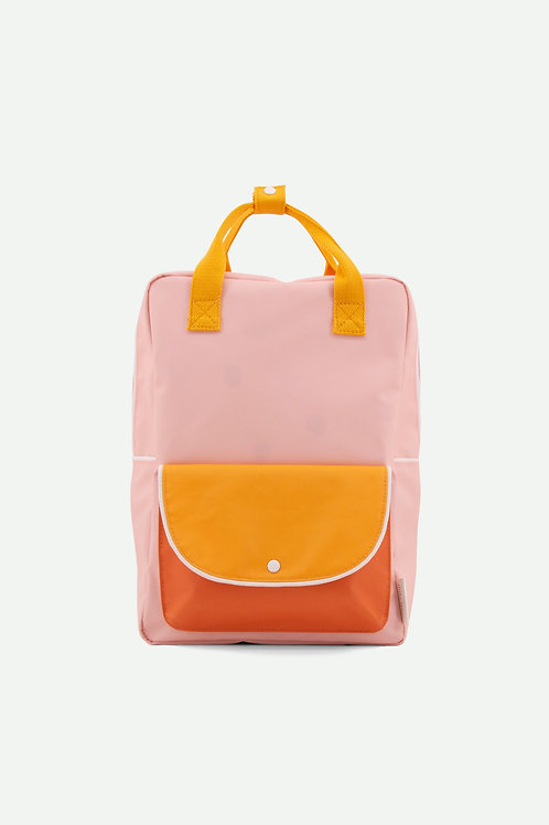 large backpack wanderer | candy pink + sunny yellow + carrot orange