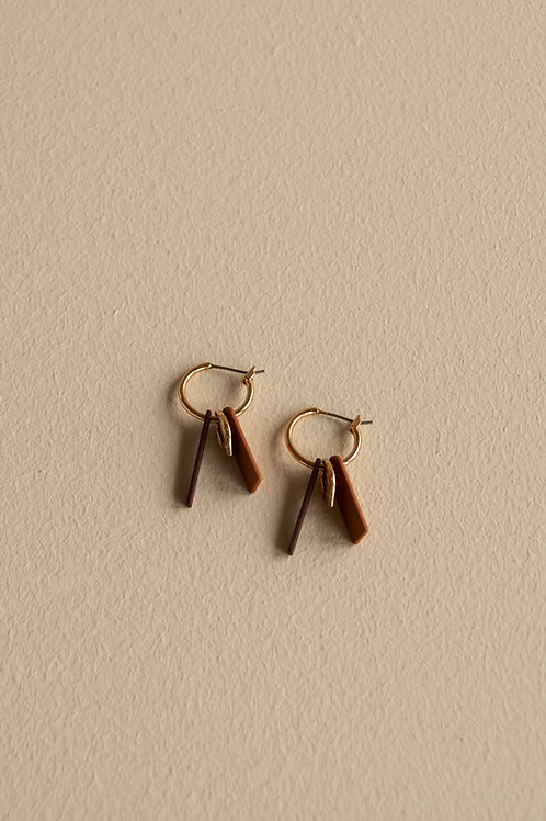 Earrings   shades of sunset   sunset orange + wine red
