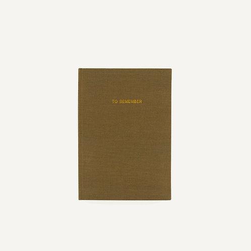 Notebook L • washed linen • olive