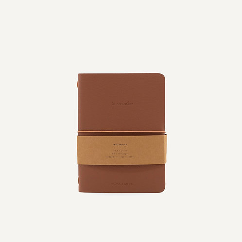 Notebook M • pebbled pu • chestnut