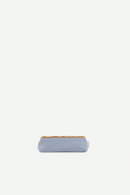 pencil case freckles | sky blue + caramel fudge