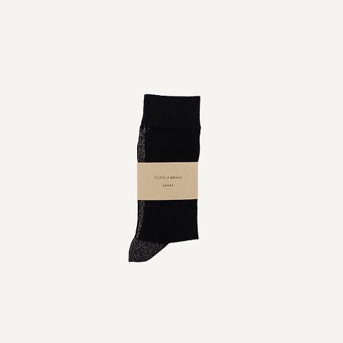 Socks • black + golden glitterline