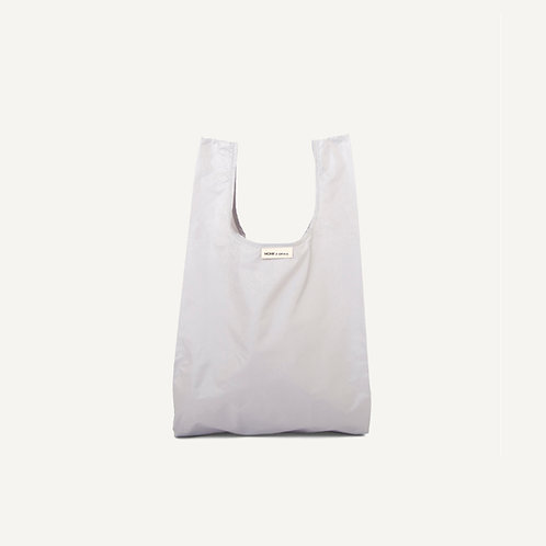 Monk bag • nylon • light grey