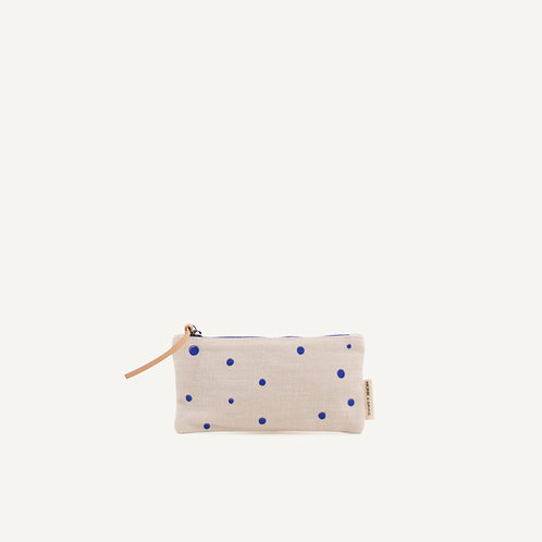 Kodomo pencilcase • ink blue dots