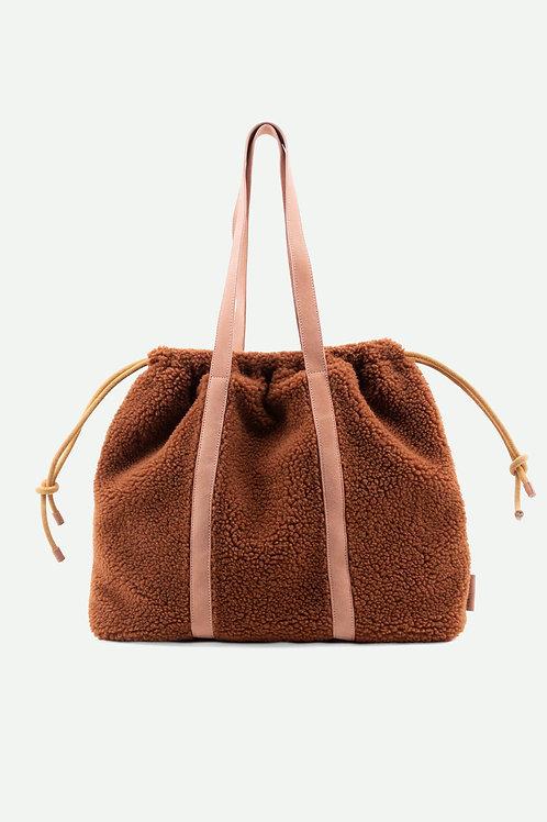 tote bag   teddy   pecan brown