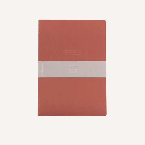 Notebook XL • quote • brick red