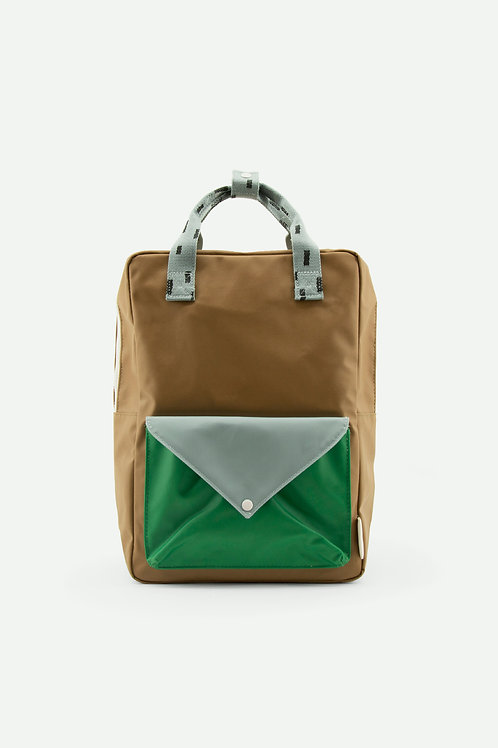 large backpack sprinkles | envelope | brassy green + apple green + steel blue