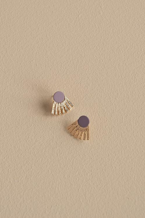 Earrings   sunbeams   hazy lilac