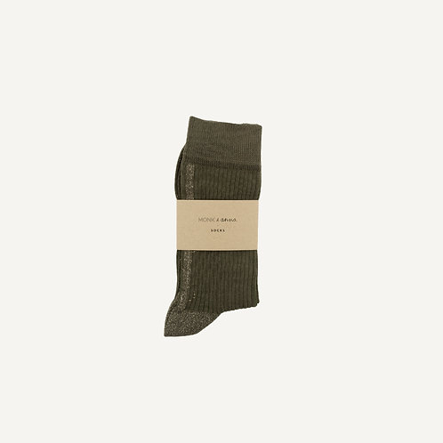 Socks • olive + golden glitterline