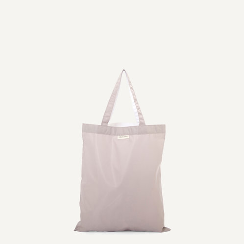 Anna shopper • nylon • light grey & white