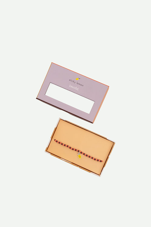 bracelet   lemon   cherry red + berry swirl