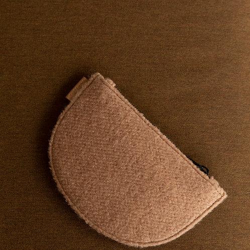 Mondo half moon wallet • wool • cashew