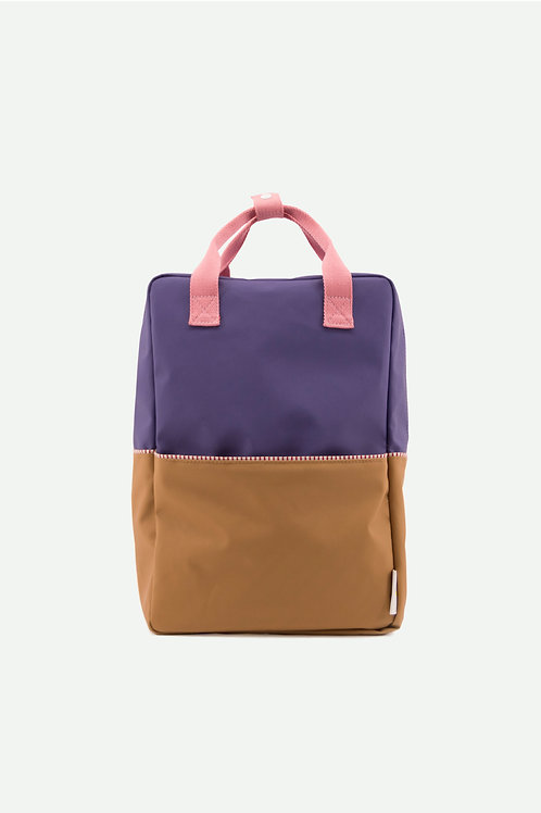 large backpack colourblocking | lobby purple