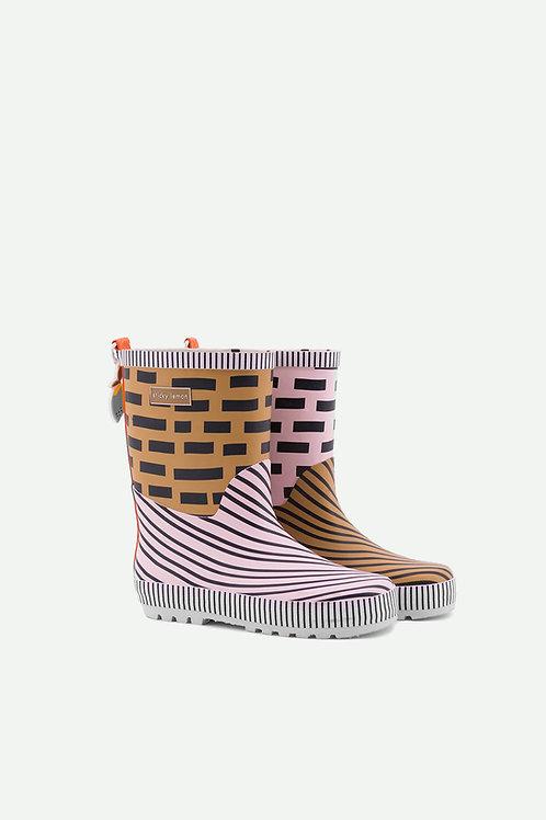 rainboots | special edition | panache gold + mendl's pink + royal orange