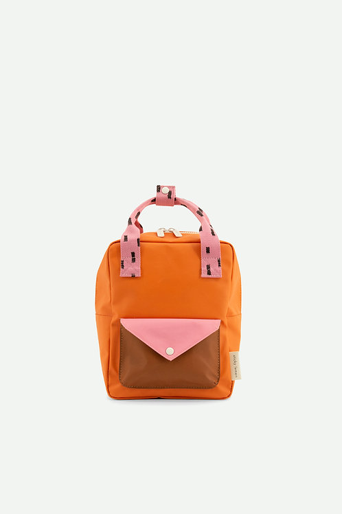 small backpack sprinkles | envelope | carrot orange + bubbly pink + syrup brown