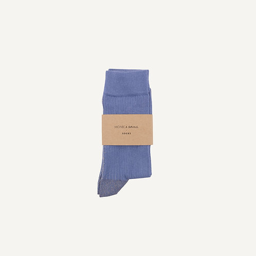 Socks • faded blue + golden glitterline