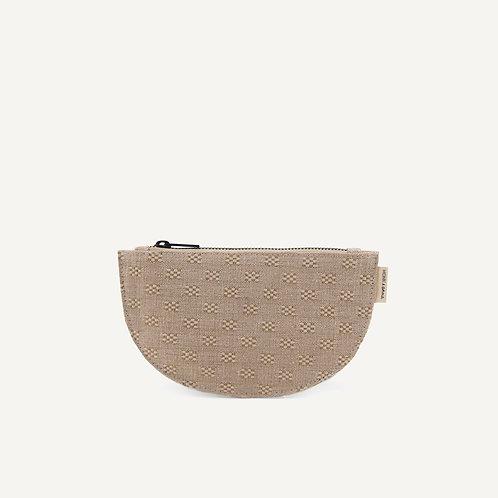 Mondo half moon wallet • linen