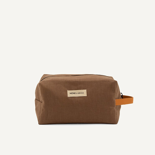 Toiletry bag • linen • cacao