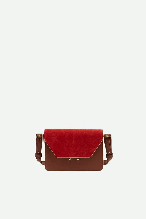 shoulder bag   coloré   faded burgundy + poppy red