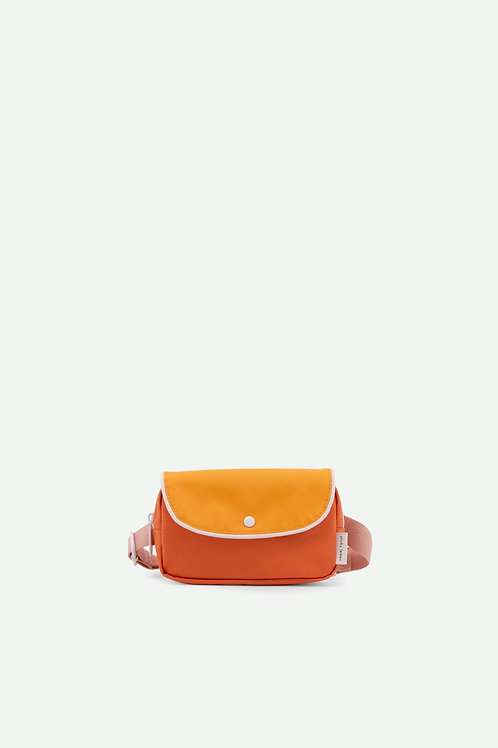 fanny pack wanderer | carrot orange + sunny yellow + candy pink