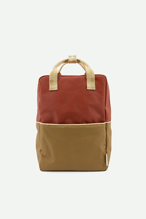 large backpack | colourblocking | fig brown + apple tree + vanilla sorbet