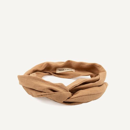 Headband • linen • cashew