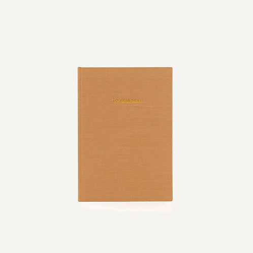 Notebook L • washed linen • cashew
