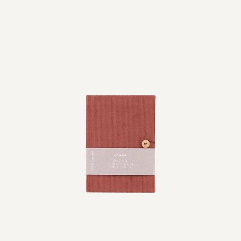Notebook S • corduroy • brick red