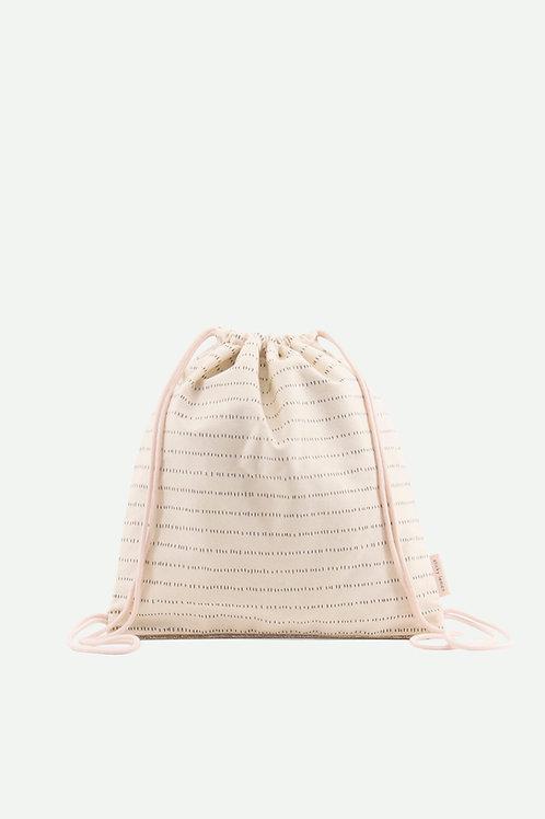 drawstring bag glitter | nude pink