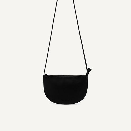 Farou half moon bag • pebbled pu • black
