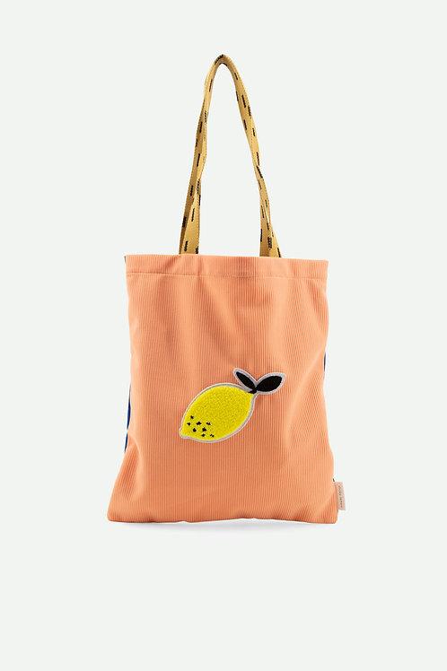 tote bag sprinkles | lemonade pink + indigo blue