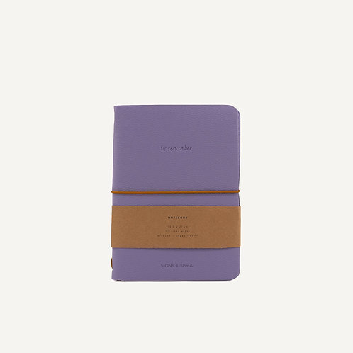 Notebook M • vegan leather • lilac