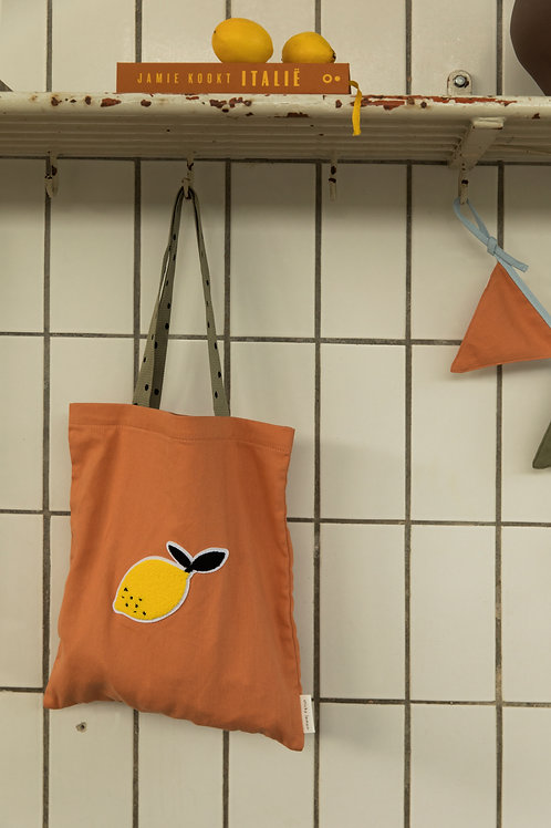 tote bag freckles | faded orange