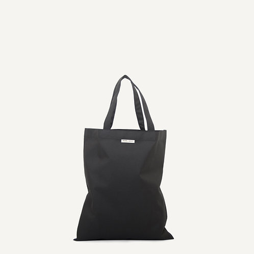 Anna shopper • waxed canvas • black