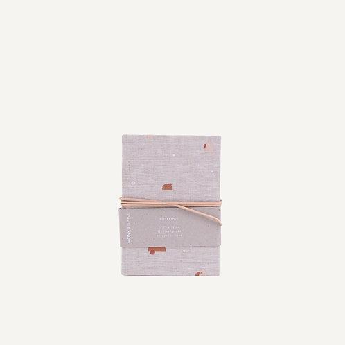 Notebook S • natural linen • handdrawn pattern