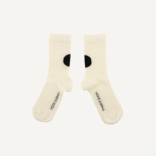Socks • graphic • milk + black