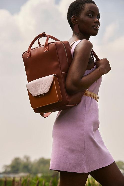 backpack   coloré   faded burgundy + sunset orange + hazy lilac