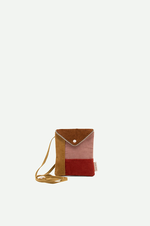 wallet bag | ginger bread + dusty pink + marmalade red + panache gold