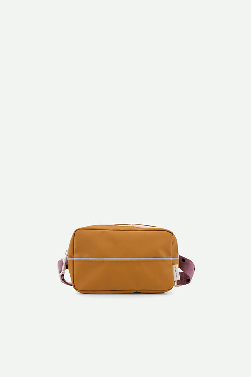 fanny pack large freckles | caramel fudge + pirate purple + sky blue