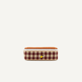 1801903 - Sticky Lemon - pencil case - special edition - grape gingham - willow brown - va