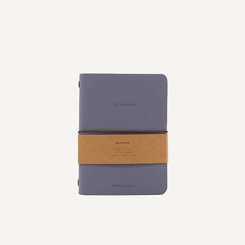 Notebook M • pebbled pu • faded blue