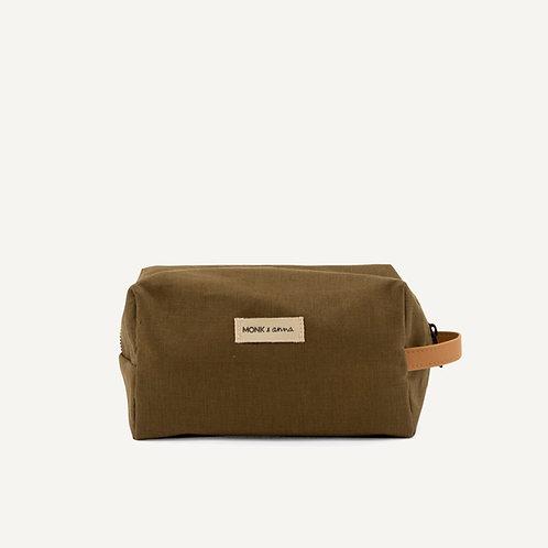 Toiletry bag • linen • olive